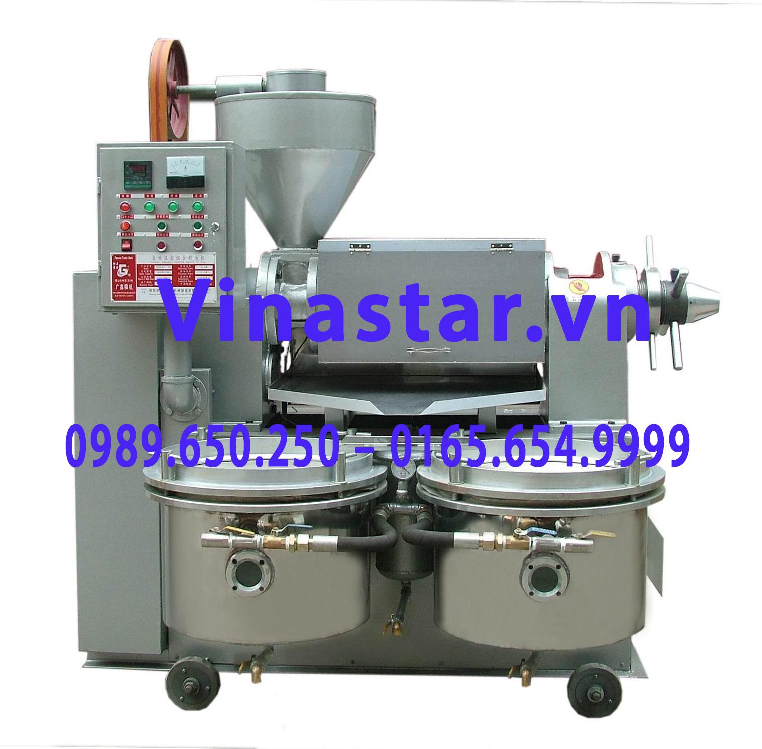 Máy ép dầu thực vật, máy ép dầu lạc, dầu vừng, đậu nành Guangxin YZYX10 (95) WZ
