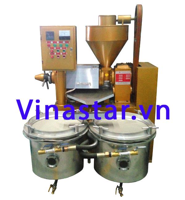 Máy ép dầu thực vật, máy ép dầu lạc, dầu vừng, đậu nành Guangxin YZYX70WZ
